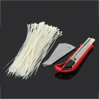 Multi-Functional Handheld Tools Set w/ Knife / Cable Ties / Blades - Red + Silver
