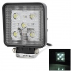 LML-0215L 15W 900lm 5-LED White Light Waterproof Car Indicator Lamp - Black (DC 10~30V)