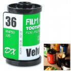 Creative Film Cartridge Style ABS Toothpick Case - Green + White + Black