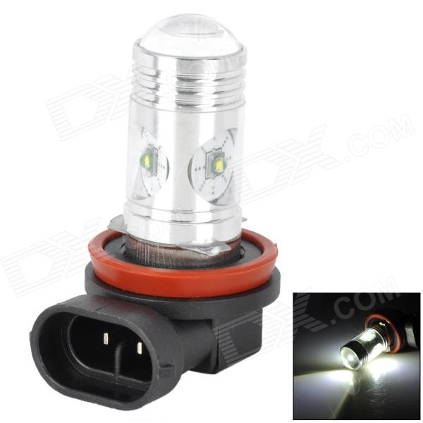 H8 12W 650lm 4-LED White Light Car Foglight Lamp w/ Cree XP-E - White + Red (DC 12~24V) h1 11w h1 11w 350lm white light car foglight w 1 cree xp e 4 led 12 24v
