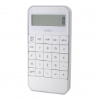 "Creative Slim Portable 2"" LCD 10-digit Calculator - White + Silver (1 x LR44)"