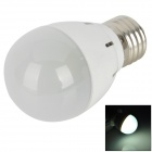 KD-QP-3W-ZBG-02 E27 3W 150~300lm COB LED White Light Bulb - Grey + White + Silver