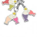 Stainless Steel Colorful Zodiac Keychain (Pisces)