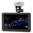 "3-in-1 7"" LCD Car Speed Testing Radar Detector + Camcorder + GPS w/ Europe Map / AV-In / TF - Black"