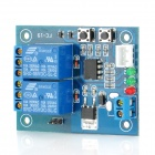 FC-16-K 2-Channel Self-Lock Relay Module - Blue