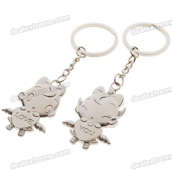 Stainless Steel Colorful Zodiac Keychain (Aries)