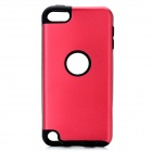 Protective Plastic + Silicone Back Case for Ipod Touch 5 - Red + Black