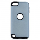 Protective Plastic + Silicone Back Case for Ipod Touch 5 - Grey + Black