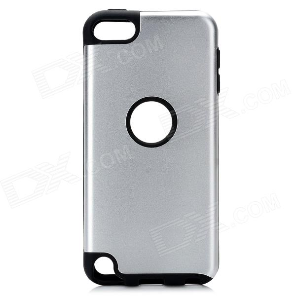 Plastic + Silicone Back Case for Ipod Touch 5 - Silver + Black
