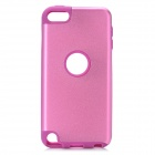 Protective Plastic + Silicone Back Case for Ipod Touch 5 - Purple