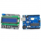 X1302 Uno R3 + LCD Keypad Shield Expansion Board Module - Blue + Black