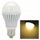 E27 5.5W 600~700lm 3500K COB LED Warm White Light Bulb - White + Silver