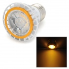 E27 4W 450lm 3500K COB LED Warm White Spotlight - Silver + Golden