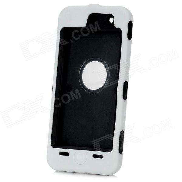 Protective Plastic + Silicone Case for Ipod Touch 5 - White + Black