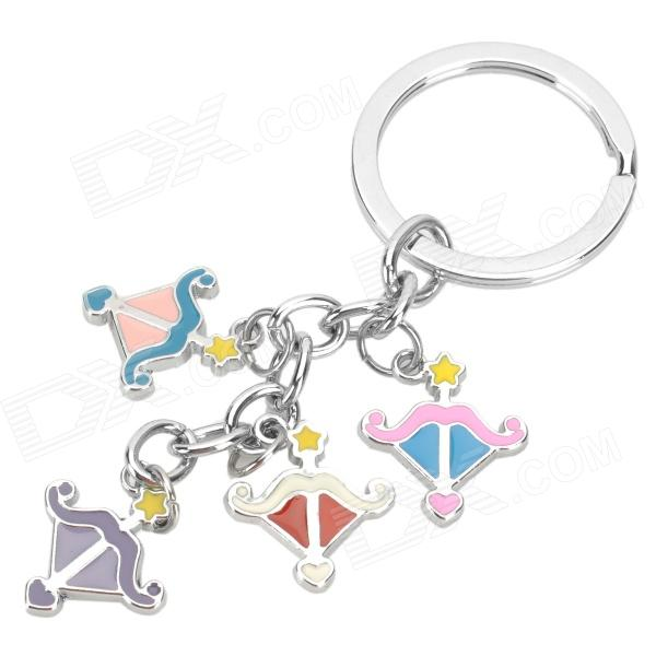 Stainless Steel Colorful Zodiac Keychain (Sagittarius)