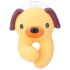 Cute Dog Style Automatically Popup Toothbrush-Holder W/ Suction Cup - Yellow + Brown