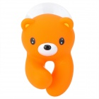 Cute Bear Style Automatically Popup Toothbrush-Holder W/ Suction Cup - Orange