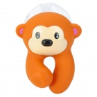 Cute Monkey Style Toothbrush-Holder W/ Suction Cup - Brown