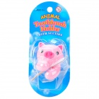 Cute Pig Style Toothbrush-Holder W/ Suction Cup - Pink