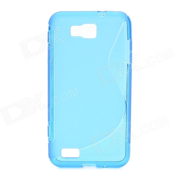 S-Line Style Protective TPU Soft Back Case for Samsung Ativ S GT-i8750 / T899 - Translucent Blue s style protective soft tpu back case for nokia lumia 928 translucent grey