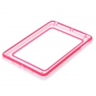 Unique Protective Plastic + Silicone Bumper Frame for iPad Mini - Pink