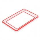 Unique Protective Plastic + Silicone Bumper Frame for iPad Mini - Transparent + Red