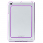 Unique Protective Plastic + Silicone Bumper Frame for Ipad MINI - Transparent + Purple