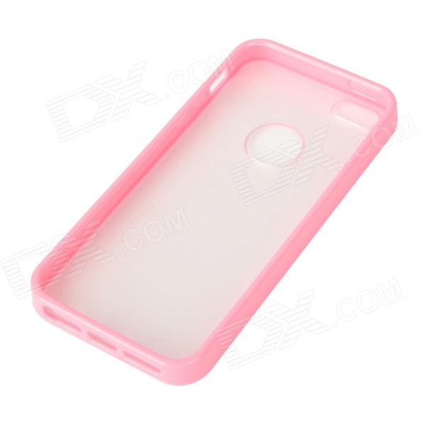 Protective TPU + PC Matte Case for iPhone 5 - Pink Frame