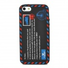 Protective Envelope Pattern Silicone Case for Iphone 5 - Black