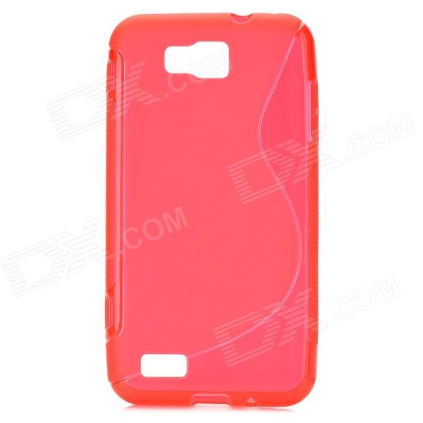 S-Line Style Protective TPU Soft Back Case for Samsung Ativ S GT-i8750 / T899 - Red стилус zl 5 x samsung ativ s i8750