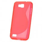 S-Line Style Protective TPU Soft Back Case for Samsung Ativ S GT-i8750 / T899 - Red