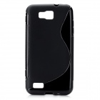 S-Line Style Protective TPU Soft Back Case for Samsung Ativ S GT-i8750 / T899 - Black