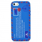 Protective Envelope Pattern Silicone Case for Iphone 5 - Blue