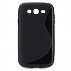 S-Line Style Protective TPU Soft Back Case for Samsung Galaxy Grand i9080 / Duos i9082 - Black
