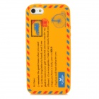 Protective Envelope Pattern Silicone Case for Iphone 5 - Orange Yellow