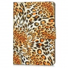 Protective Leopard Print Pattern PU Leather Case for iPad Mini