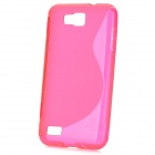 S-Line Style Protective TPU Soft Back Case for Samsung Ativ S GT-i8750 / T899 - Deep Pink