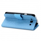 Diamond Style Protective PU Leather Case Stand w/ Card Slot for Samsung Galaxy S3 i9300 - Light Blue