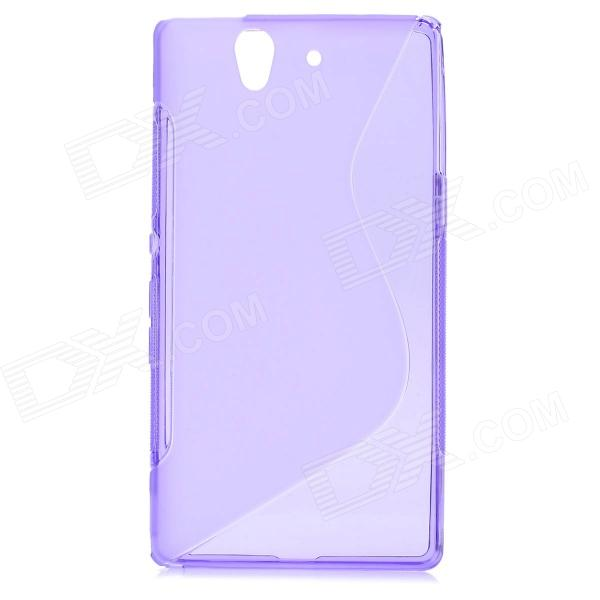 S-Line Style Protective TPU Soft Back Case for Sony L36H Xperia Z C6603 C660X L36i - Purple highscreen аккумулятор для easy s easy s pro 2200 mah