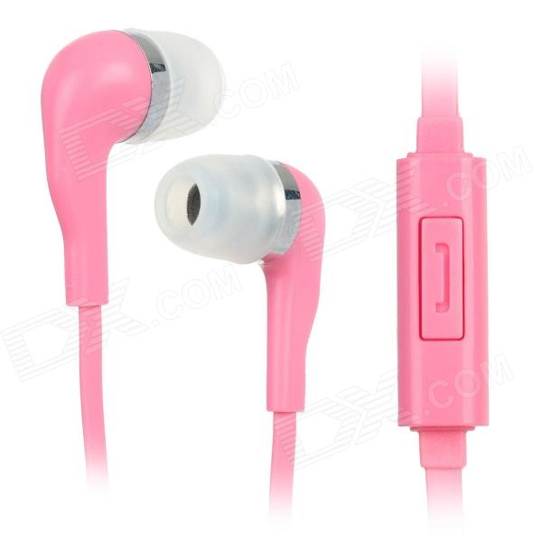 купить Wallytech WHF-099 3.5mm-Plug In-ear Style Stereo Earphones w/ Microphone - Pink (120cm) недорого