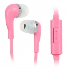 Wallytech WHF-099 3.5mm-Plug In-ear Style Stereo Earphones w/ Microphone - Pink (120cm)