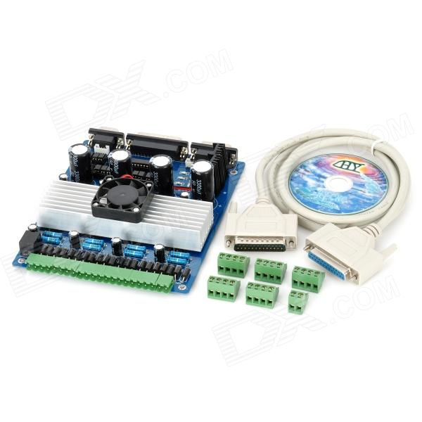 TB6560 CNC 4-Axis Stepper Motor Driver Controller Module - Blue + Black + Green (DC 12~36V) fast shipping jm15 004 1 5hp dc motor for treadmill