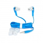Wallytech WHF-099 3.5mm-Plug In-ear Style Stereo Earphones w/ Microphone - Blue (120cm)