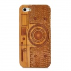 Protective Camera Pattern Wood Case for Iphone 5 - Brown