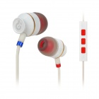 Syllable T18-002 Wired 3.5mm Jack In-Ear Earphones w/ Microphone for iPhone 5 / 4S - White (120cm)