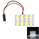 Festoon Spring / T10 / BA9S 8W 400lm 16-SMD 5630 LED White Light Doom Lamp Board - White + Yellow