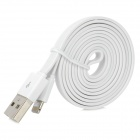 USB Male to 8pin Lightning Data Sync & Charging Cable for iPhone 5 - White (100cm)