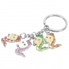 Stainless Steel Chinese Zodiac Keychain (Snake)