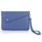 ENKAY ENIK-7500 Ostrich Pattern PU Leather Sleeve Bag for Ipad MINI / P3100 / Nexus 7 / P6200 - Blue