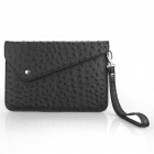 ENKAY ENIK-7500 Ostrich Pattern PU Leather Sleeve Bag for Ipad MINI / P3100 / Nexus 7 - Black